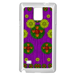 Buddha Blessings Fantasy Samsung Galaxy Note 4 Case (white) by pepitasart