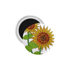 Sunflowers Flower Bloom Nature 1 75  Magnets by Simbadda