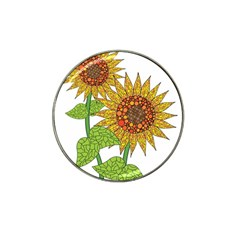 Sunflowers Flower Bloom Nature Hat Clip Ball Marker (4 Pack) by Simbadda