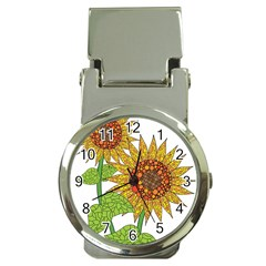 Sunflowers Flower Bloom Nature Money Clip Watches by Simbadda