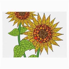 Sunflowers Flower Bloom Nature Large Glasses Cloth by Simbadda