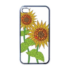 Sunflowers Flower Bloom Nature Apple Iphone 4 Case (black) by Simbadda