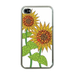 Sunflowers Flower Bloom Nature Apple Iphone 4 Case (clear) by Simbadda