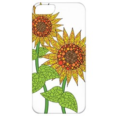 Sunflowers Flower Bloom Nature Apple Iphone 5 Classic Hardshell Case by Simbadda