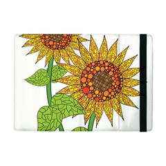 Sunflowers Flower Bloom Nature Apple iPad Mini Flip Case by Simbadda
