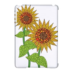 Sunflowers Flower Bloom Nature Apple iPad Mini Hardshell Case (Compatible with Smart Cover) by Simbadda