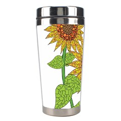 Sunflowers Flower Bloom Nature Stainless Steel Travel Tumblers by Simbadda
