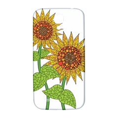 Sunflowers Flower Bloom Nature Samsung Galaxy S4 I9500/i9505  Hardshell Back Case by Simbadda