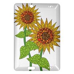 Sunflowers Flower Bloom Nature Amazon Kindle Fire Hd (2013) Hardshell Case by Simbadda