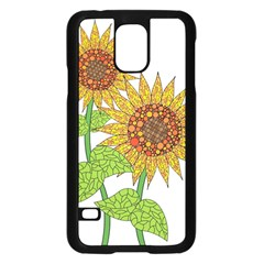 Sunflowers Flower Bloom Nature Samsung Galaxy S5 Case (black) by Simbadda