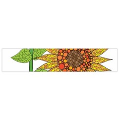Sunflowers Flower Bloom Nature Flano Scarf (small) by Simbadda
