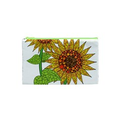 Sunflowers Flower Bloom Nature Cosmetic Bag (xs) by Simbadda
