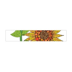Sunflowers Flower Bloom Nature Flano Scarf (mini) by Simbadda