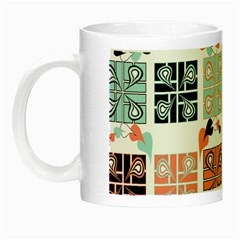 Mint Black Coral Heart Paisley Night Luminous Mugs by Simbadda