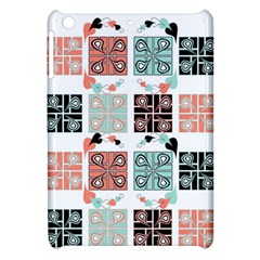 Mint Black Coral Heart Paisley Apple Ipad Mini Hardshell Case by Simbadda