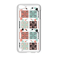 Mint Black Coral Heart Paisley Apple Ipod Touch 5 Case (white) by Simbadda