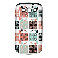 Mint Black Coral Heart Paisley Samsung Galaxy S Iii Classic Hardshell Case (pc+silicone) by Simbadda