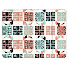 Mint Black Coral Heart Paisley Samsung Galaxy Tab 7  P1000 Flip Case by Simbadda