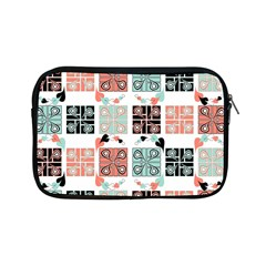 Mint Black Coral Heart Paisley Apple Ipad Mini Zipper Cases by Simbadda