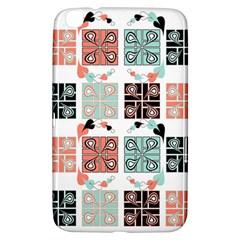 Mint Black Coral Heart Paisley Samsung Galaxy Tab 3 (8 ) T3100 Hardshell Case  by Simbadda