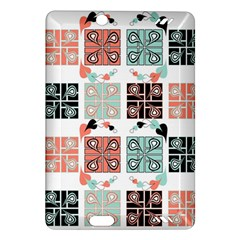 Mint Black Coral Heart Paisley Amazon Kindle Fire Hd (2013) Hardshell Case by Simbadda