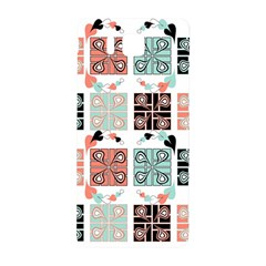 Mint Black Coral Heart Paisley Samsung Galaxy Alpha Hardshell Back Case by Simbadda