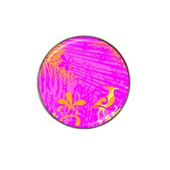 Spring Tropical Floral Palm Bird Hat Clip Ball Marker by Simbadda