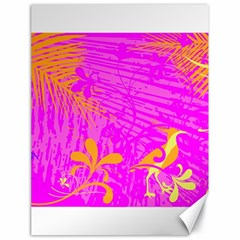 Spring Tropical Floral Palm Bird Canvas 18  X 24   by Simbadda