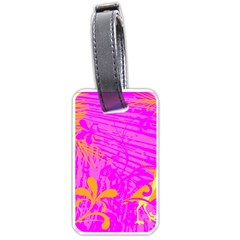 Spring Tropical Floral Palm Bird Luggage Tags (one Side)  by Simbadda
