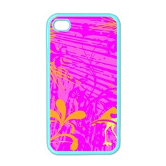 Spring Tropical Floral Palm Bird Apple Iphone 4 Case (color) by Simbadda