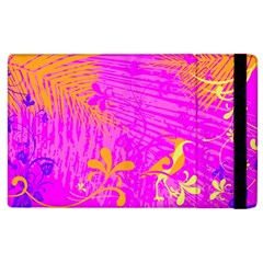 Spring Tropical Floral Palm Bird Apple Ipad 2 Flip Case by Simbadda