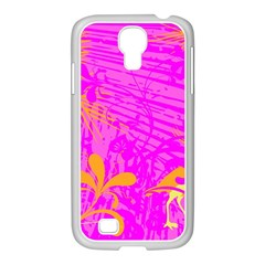 Spring Tropical Floral Palm Bird Samsung Galaxy S4 I9500/ I9505 Case (white) by Simbadda