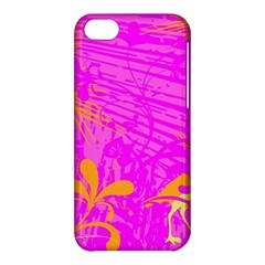 Spring Tropical Floral Palm Bird Apple Iphone 5c Hardshell Case by Simbadda
