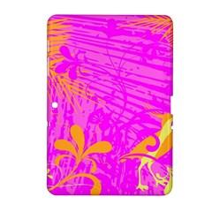 Spring Tropical Floral Palm Bird Samsung Galaxy Tab 2 (10 1 ) P5100 Hardshell Case  by Simbadda