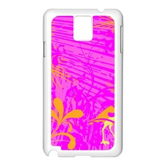 Spring Tropical Floral Palm Bird Samsung Galaxy Note 3 N9005 Case (white) by Simbadda