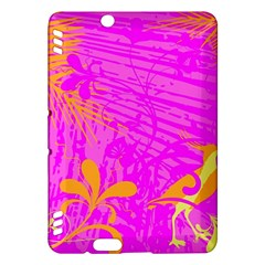Spring Tropical Floral Palm Bird Kindle Fire Hdx Hardshell Case by Simbadda
