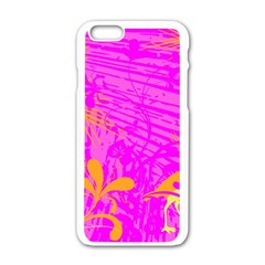 Spring Tropical Floral Palm Bird Apple Iphone 6/6s White Enamel Case by Simbadda