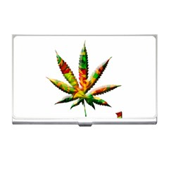 Marijuana Leaf Bright Graphic Business Card Holders by Simbadda
