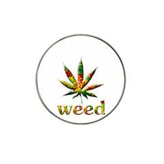 Marijuana Leaf Bright Graphic Hat Clip Ball Marker (10 Pack) by Simbadda