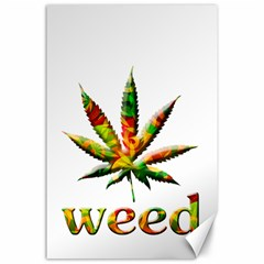 Marijuana Leaf Bright Graphic Canvas 24  X 36  by Simbadda