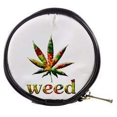 Marijuana Leaf Bright Graphic Mini Makeup Bags by Simbadda