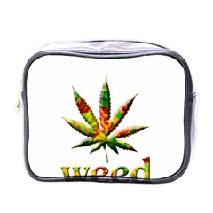 Marijuana Leaf Bright Graphic Mini Toiletries Bags