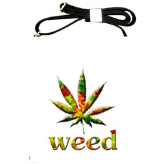 Marijuana Leaf Bright Graphic Shoulder Sling Bags by Simbadda