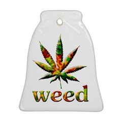 Marijuana Leaf Bright Graphic Bell Ornament (two Sides) by Simbadda