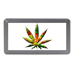 Marijuana Leaf Bright Graphic Memory Card Reader (mini) by Simbadda