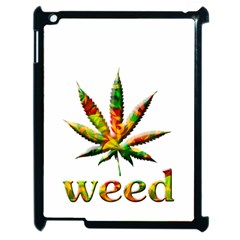 Marijuana Leaf Bright Graphic Apple Ipad 2 Case (black) by Simbadda
