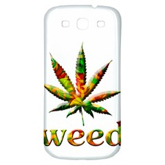 Marijuana Leaf Bright Graphic Samsung Galaxy S3 S Iii Classic Hardshell Back Case by Simbadda