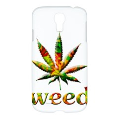 Marijuana Leaf Bright Graphic Samsung Galaxy S4 I9500/i9505 Hardshell Case by Simbadda