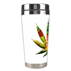 Marijuana Leaf Bright Graphic Stainless Steel Travel Tumblers by Simbadda