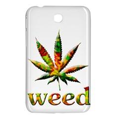 Marijuana Leaf Bright Graphic Samsung Galaxy Tab 3 (7 ) P3200 Hardshell Case  by Simbadda